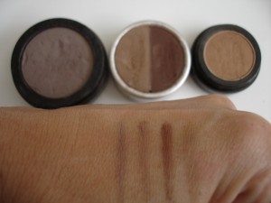 eyebrow color swatches