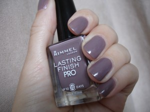 Rimmel London nail polish in steel gray