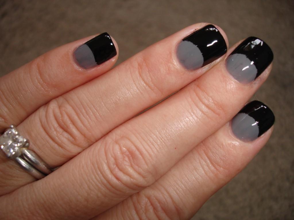 Half Moon Nails : NOTD