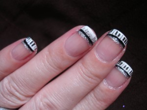 Piano Keys & Music Notes....French Manicure