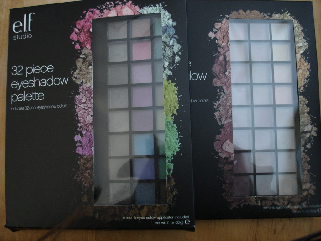 E.L.F. 32 Piece Eyeshadow Cool and Warm Palettes Swatches