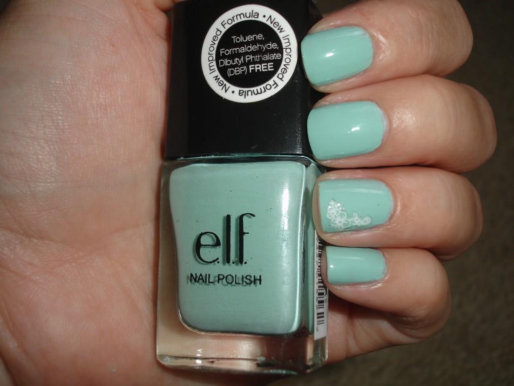 E.L.F. Nail Polish in Mint Cream