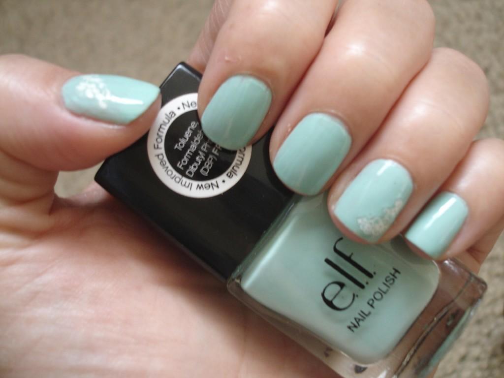 E.L.F. Polish in Mint Cream