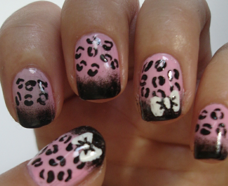 Pink Leopard Nail Art Tutorial