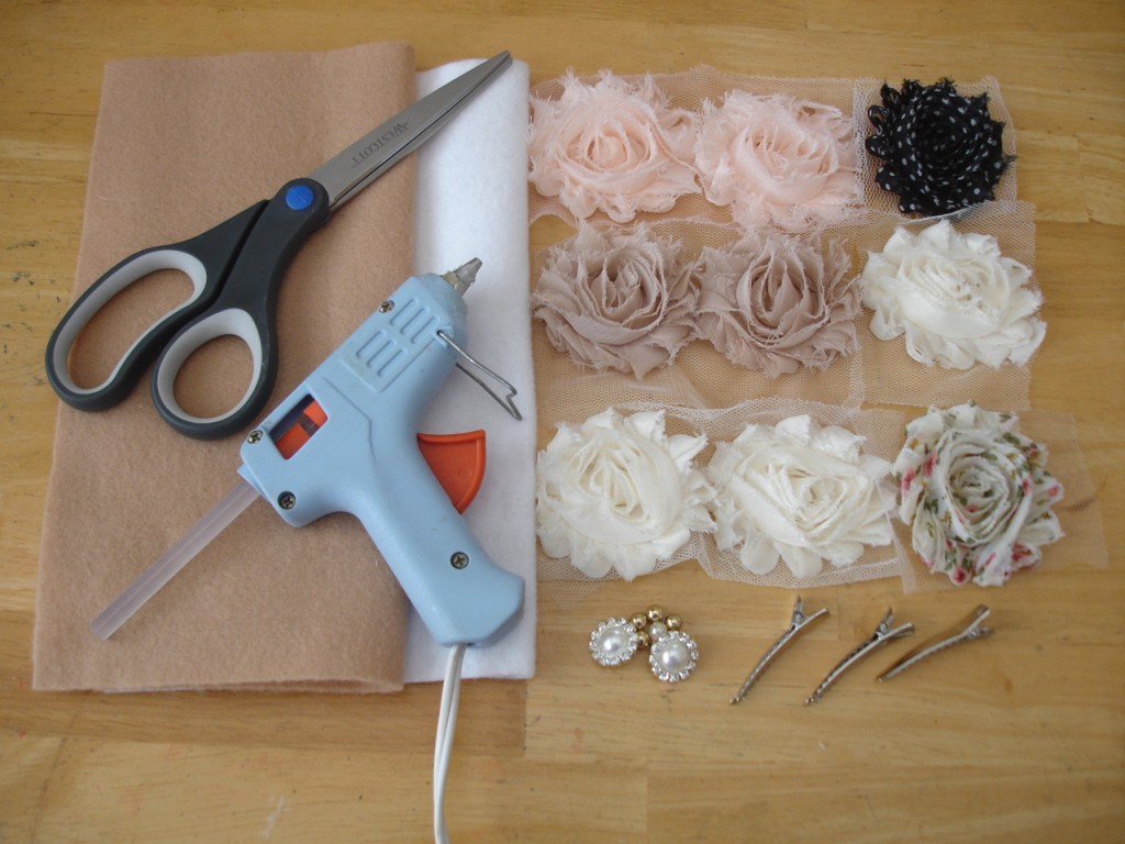 DIY flower hairpin