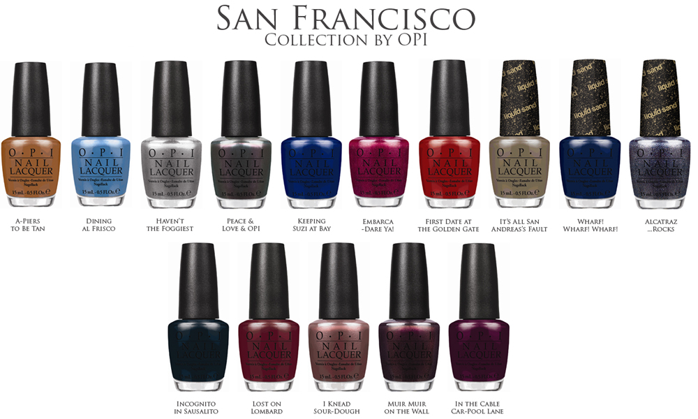 OPI San Francisco Nail Polish Collection