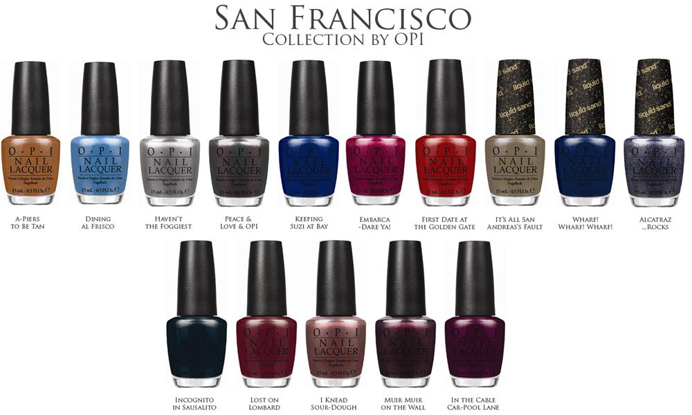 OPI San Francisco Nail Polish Collection